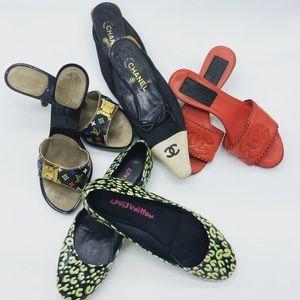 Louis Vuitton Multicolor Noir Slides/Mules